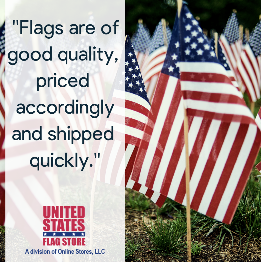 Thanks For Your Review Michele We Are So Glad That You Are Happy With Your Purchase Sports Flags Flag Store United States Flag