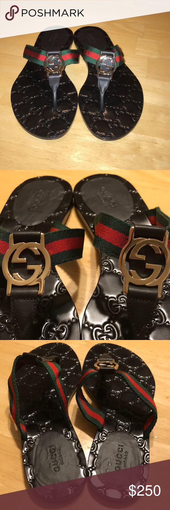 965483840 Gucci GG WEB THONG SANDALS GUCCI SIZE 35 Fit like women s 6 Know your GUCCI  SIZE