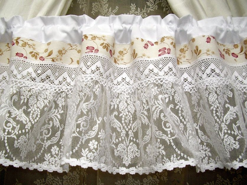 Vintage Country House Curtain Transparent Lace French Tulle Curtain White Shabby Chic Swedish Modern Farmhouse Country House 333 Shabby White Country Style Curtains Curtains