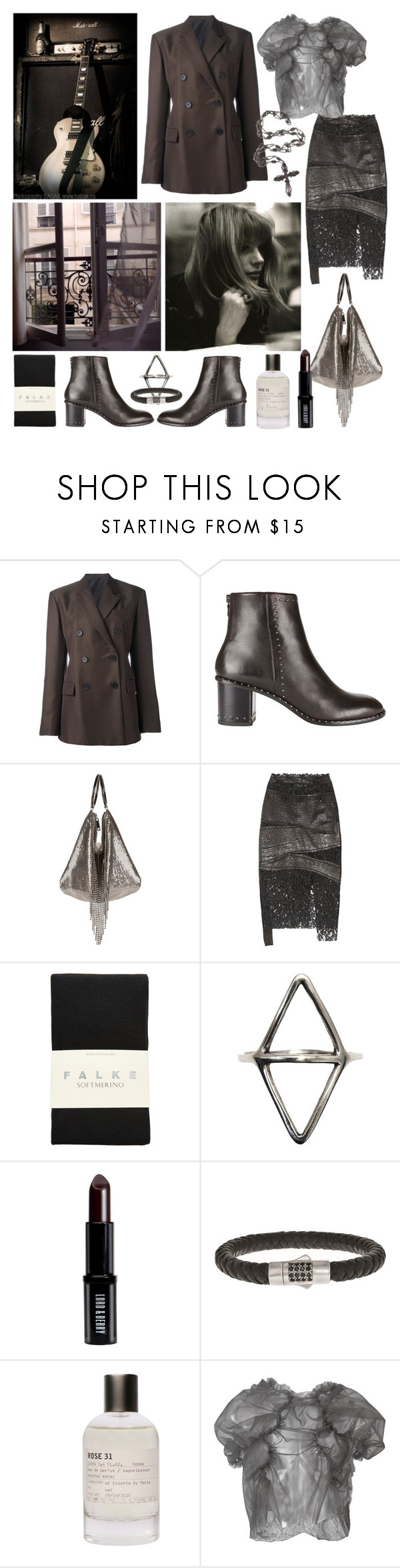 """""""you bring the rain you bring the night"""" by nothingisnormal ❤ liked on Polyvore featuring Jil Sander, rag & bone, Faithfull, Whiting & Davis, RVDK, Falke, Mei-Li Rose, Lord & Berry, Phillip Gavriel and Le Labo"""