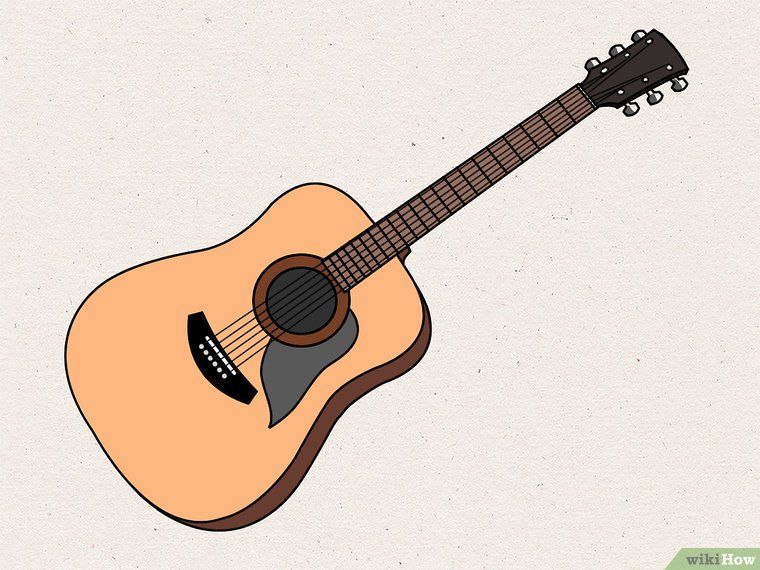 How To Draw An Acoustic Guitar Guitar Drawing Acoustic Guitar Best Acoustic Guitar