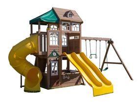 swing set installer nj cedar summit lookout lodge 3 slide cedar rh pinterest com