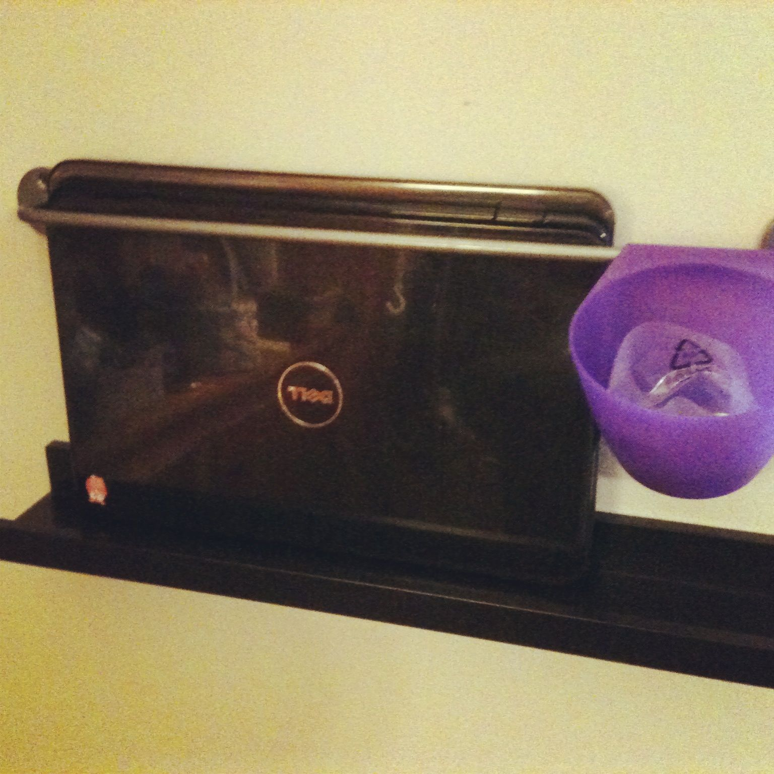 my wall laptop holder i made with ikea ribba picture ledge an