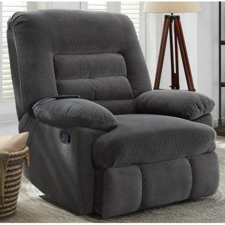 Best Serta Big Tall Memory Foam Massage Recliner Grey 400 x 300