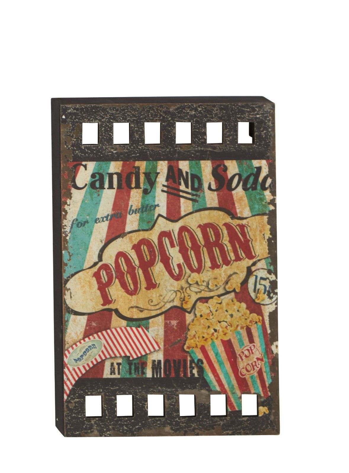 Movie Theater Wall Decor vintage-look movie concessions film wall art hollywood theater