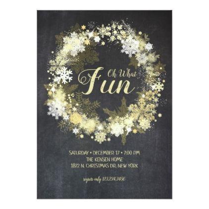 Chalk Full Merry Glam Christmas Party Invitation