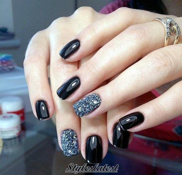 elegant fall nail art design