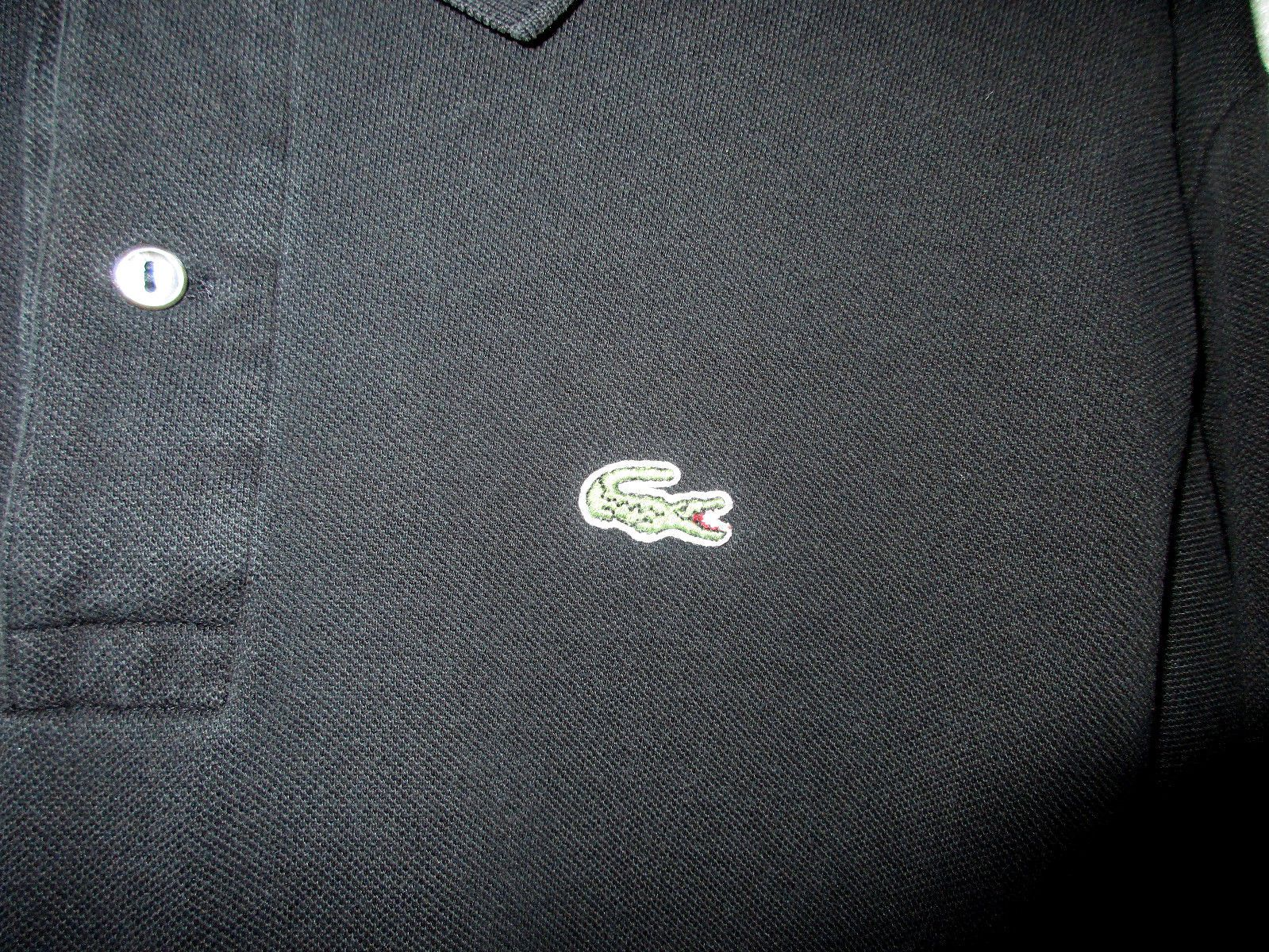 Mens Lacoste L.S. Polo Shirt / Size-6= Large / Very Good Condition /P2P=22-1/2