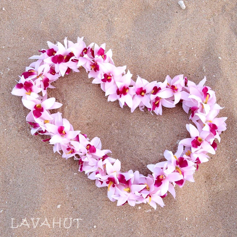 Orchid Blush Garden Hawaiian Flower Lei Products Pinterest