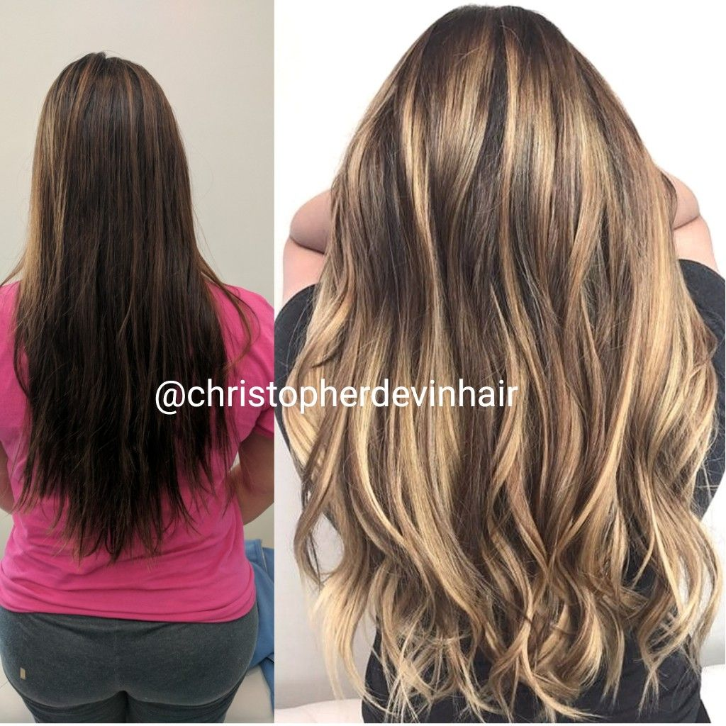 Beautiful Hair Extension And Hair Color Makeo Hair Extensions And