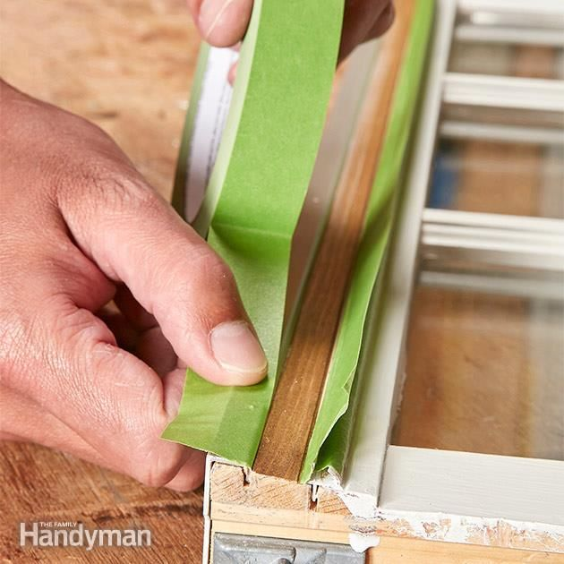 Your Window Tracks And Weather Strips Won T Work Correctly If They Re Covered With Paint In Some Cases The Window Painting Painted Window Frames Tape Window