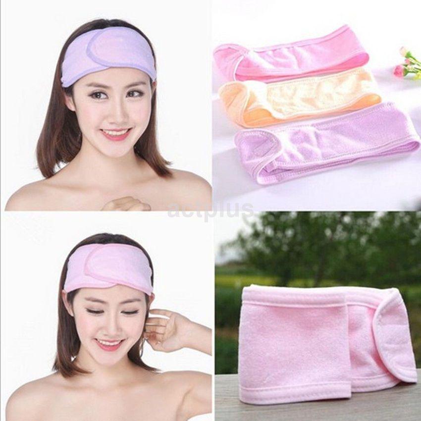 Women/'s Adjustable Wrap Head Band Make Up Hair Band Salon SPA Facial Hairband A+