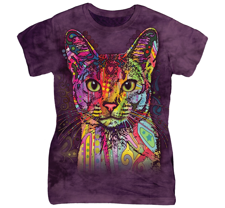 If you Cats then this VERY UNIQUE Artwork shirt is perfect for you to showcase your Love! ***Ladies Fit run smaller than a regular t-shirt! Check the size chart