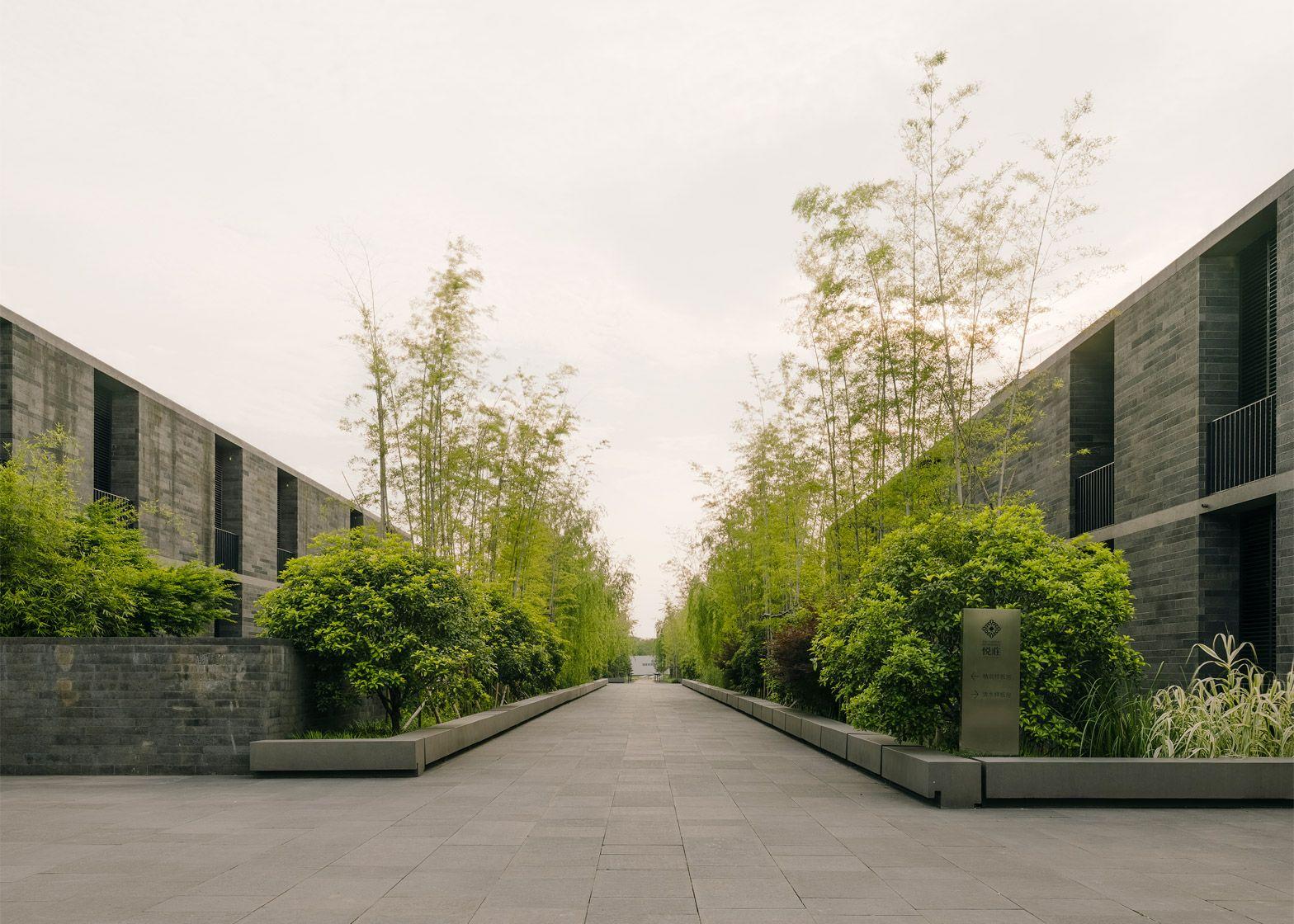 David Chipperfield Creates Village Of Stone Dwellings David Chipperfield Architects Landscape Architecture Landscape