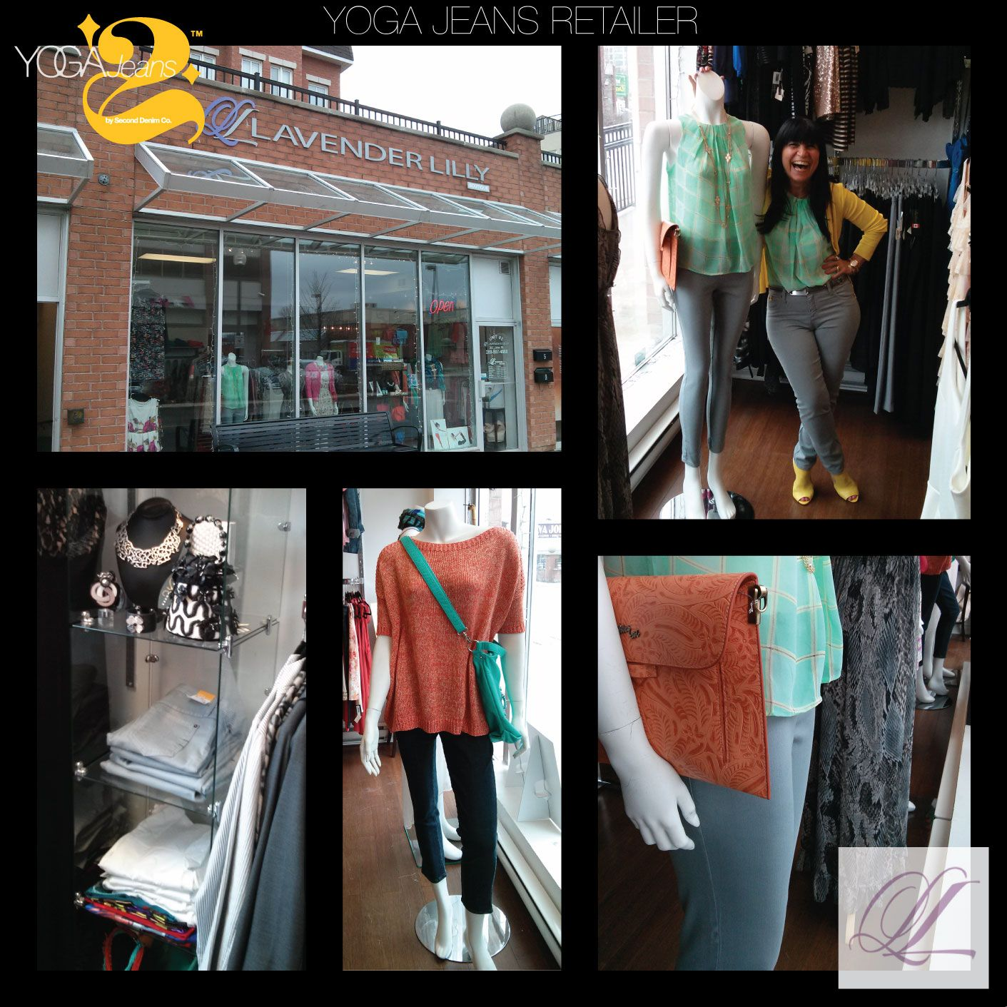 Lavender Lilly Boutique knows how to get you smiling in style this season! Their passion for Yoga Jeans and all things fashion will have you looking oh so chic in no time! Visit the boutique at 302 John Street, Thornill, ON.