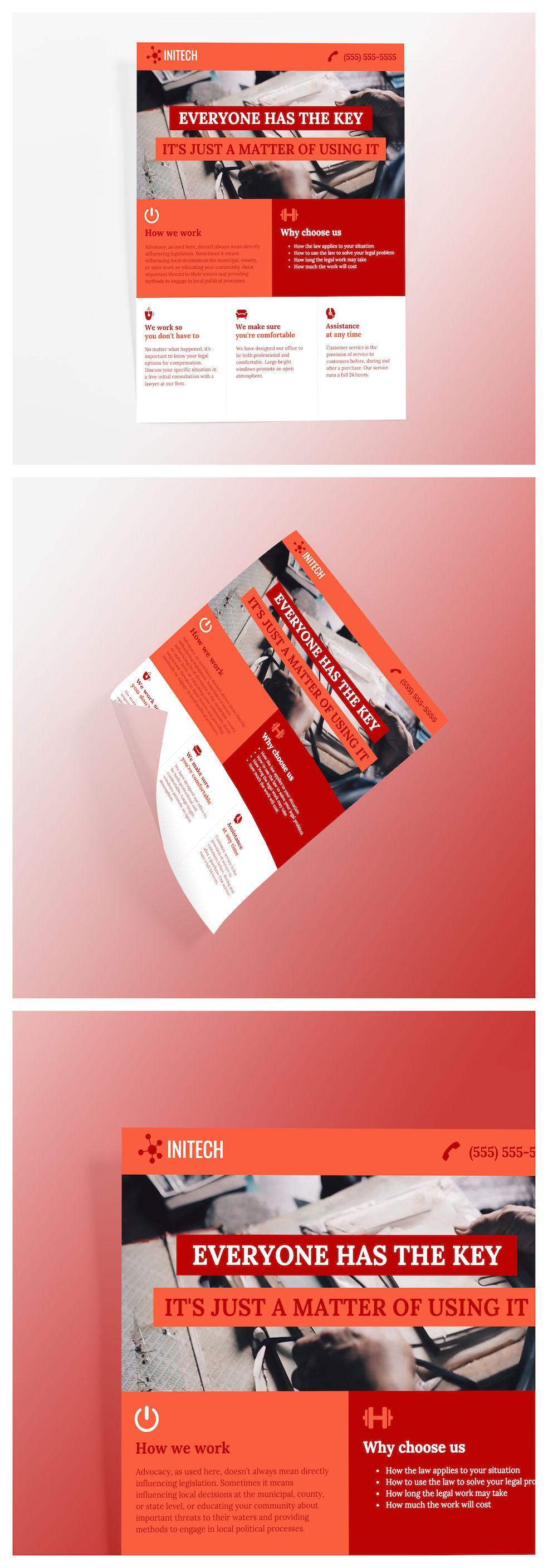 Lawyer Flyer Template   Flyer maker, Online flyer maker, Flyer