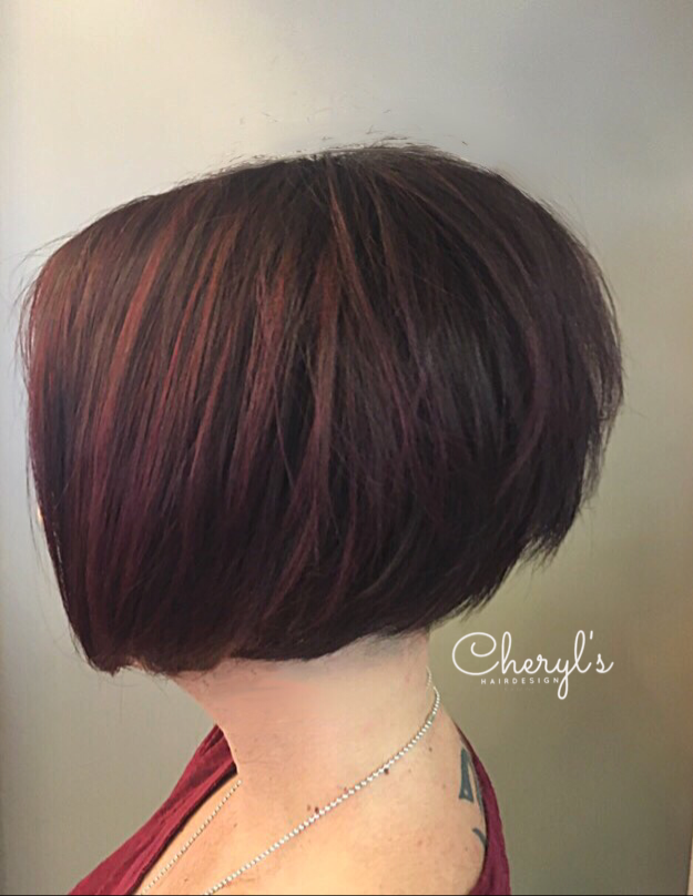 Dimensional Hair Color Stacked Layered Bob Haircut Dimensional Hair Color Beautiful Hair Hair
