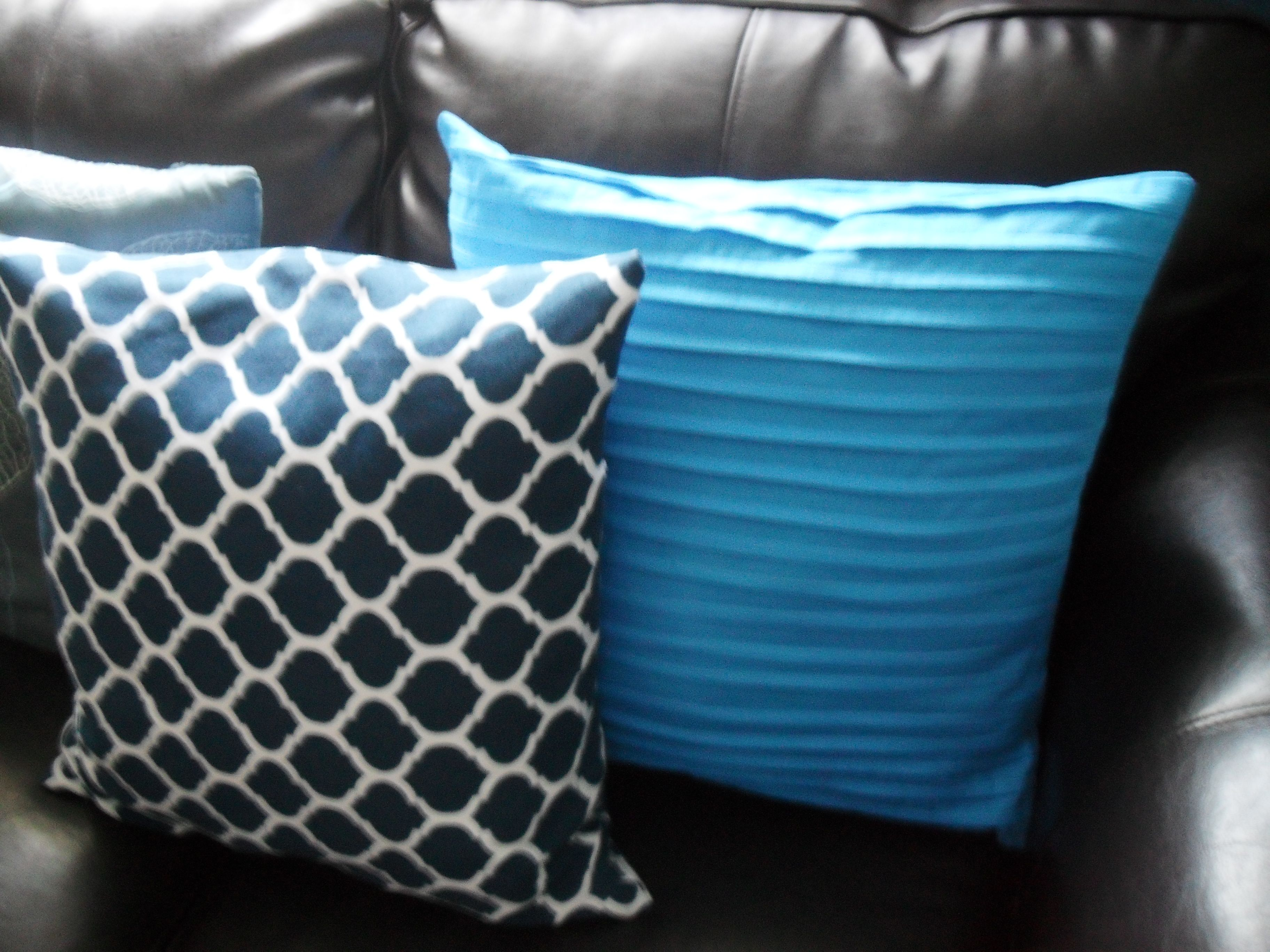 Adding color to my home trellis throw pillow made from shower ...