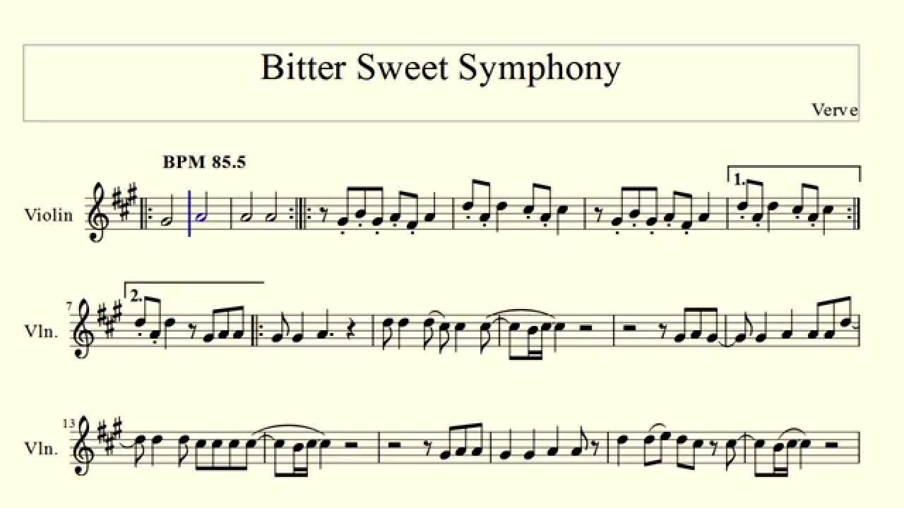 Bitter Sweet Symphony Verve violin YouTube Violin