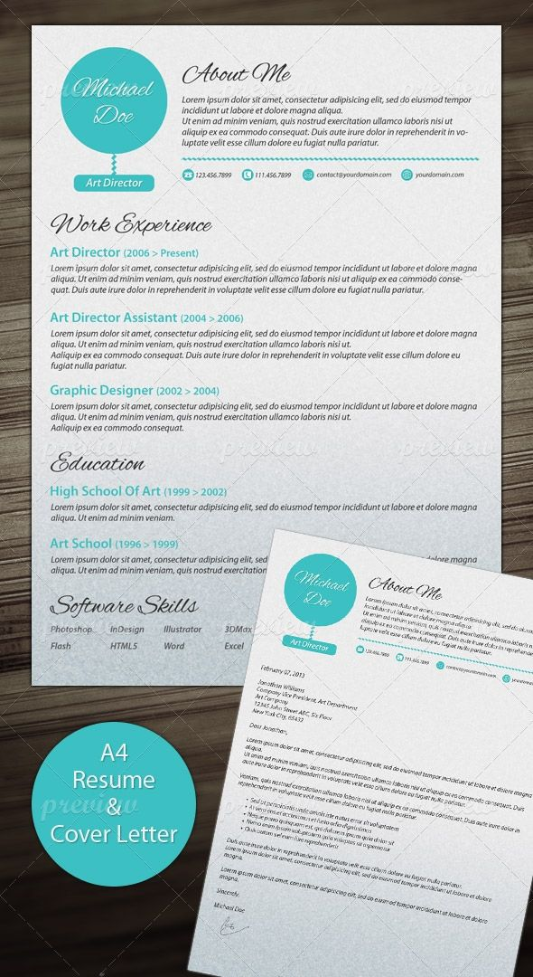Clean Resume Template With Cover Letter Print templates - Modern Resume Styles
