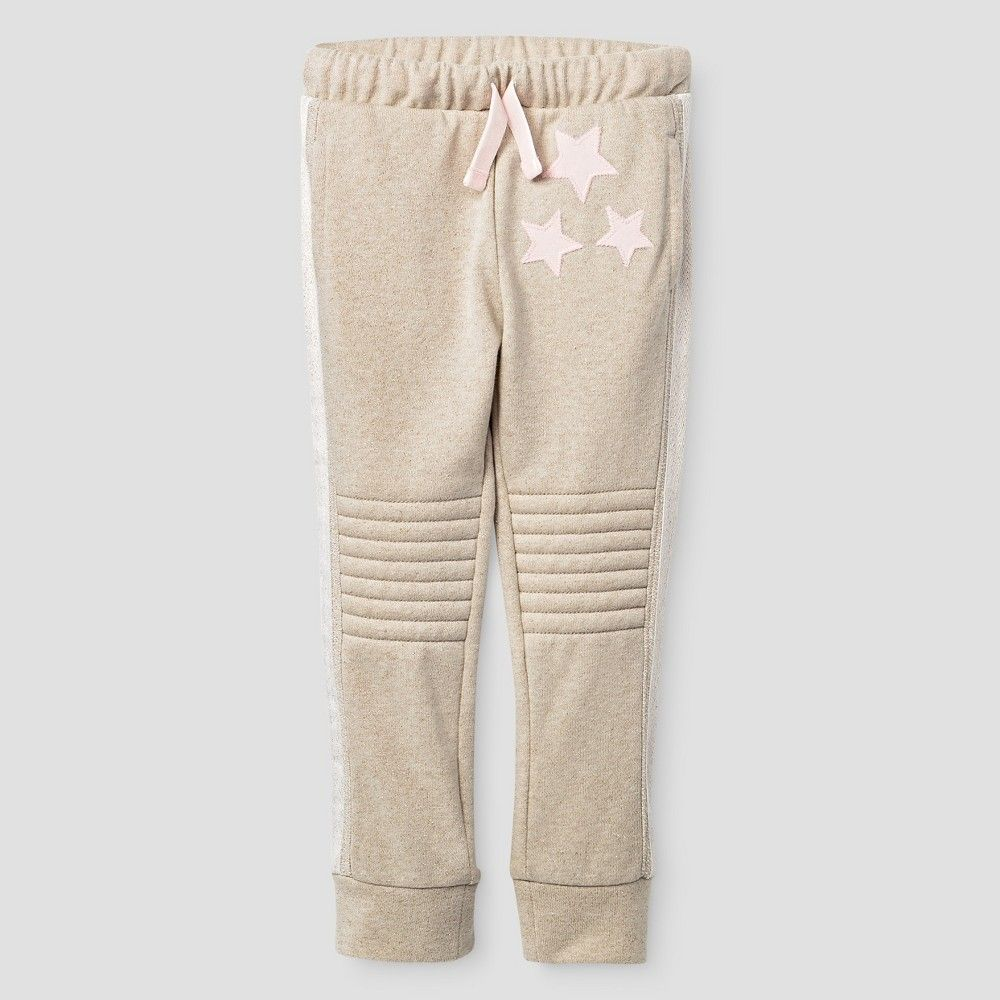 Toddler Girls' Jogger Pant Cat & Jack - Oatmeal 6X, Toddler Girl's, Beige