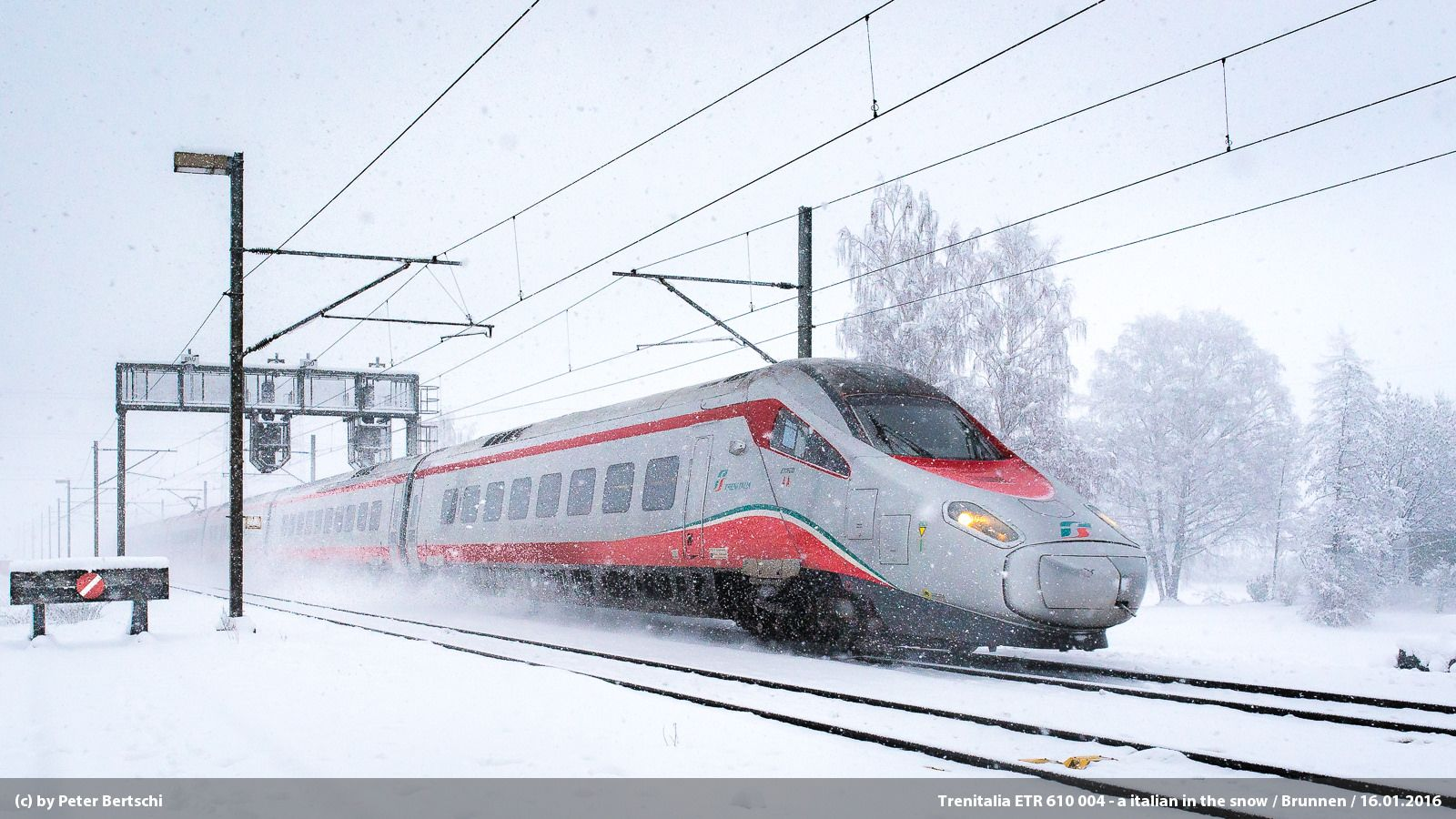 Trenitalia Etr 610 004 A Italian In The Snow Train Train Pictures Train Art