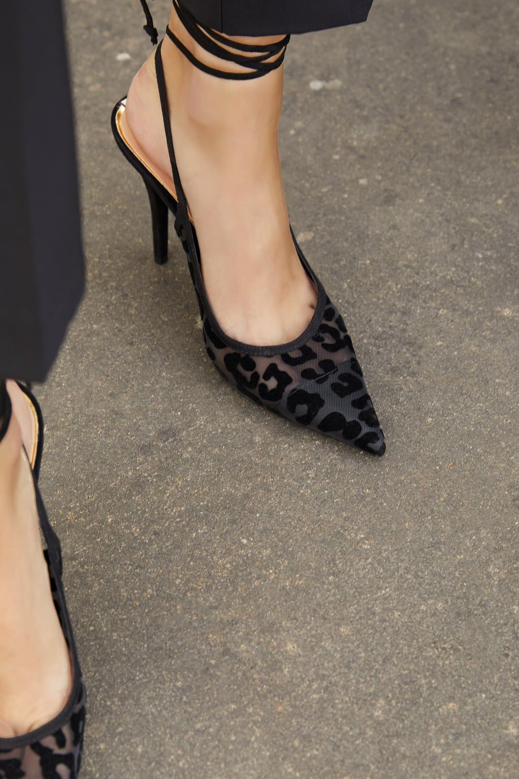 animal print slingback shoes