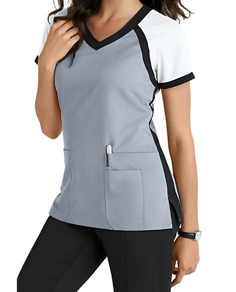 16935c80946 This athletically-inspired scrub top from the popular Grey's Anatomy brand  gives you a fresh