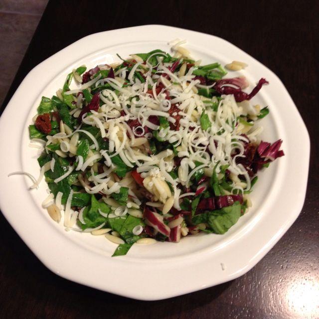 recipe: chicken florentine salad with orzo pasta [4]