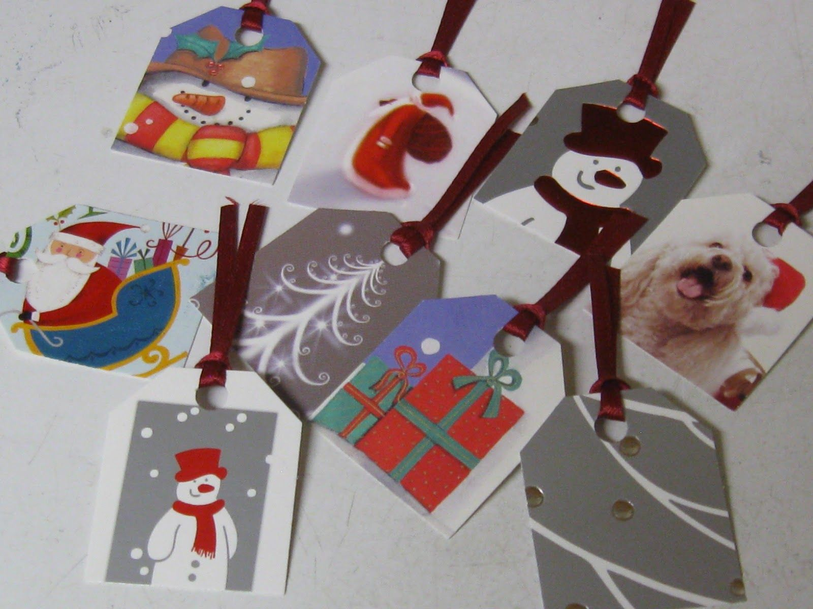 Recycled Gift Tags From Old Christmas Cards