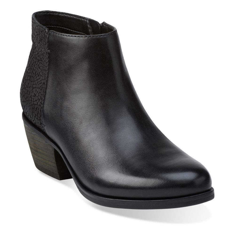Gelata Italia Black Leather - Clarks Womens Shoes - Womens Heels and Flats  - Clarks -