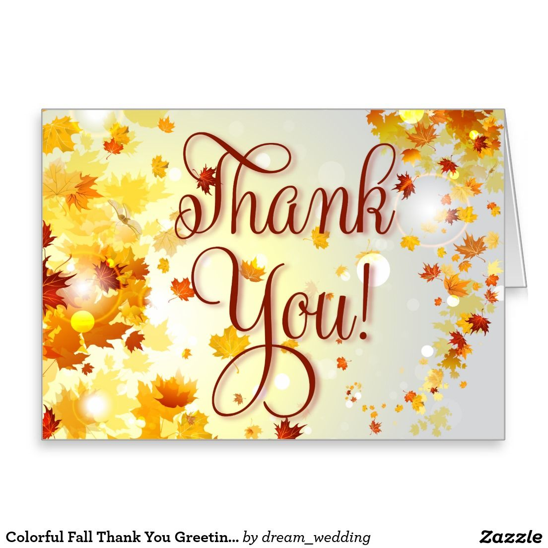 Colorful fall thank you greeting cards with leaves fall thank colorful fall thank you greeting cards with leaves kristyandbryce Images