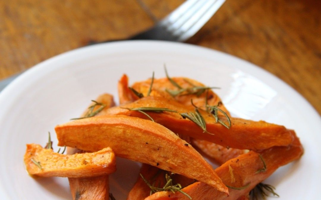 Oven-Roasted Sweet Potato Fries with Rosemary