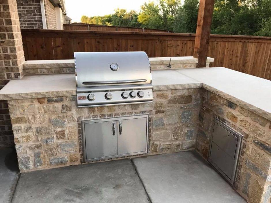 Pin by Steve Sloan on backyard | Stone bbq, Diy outdoor ...