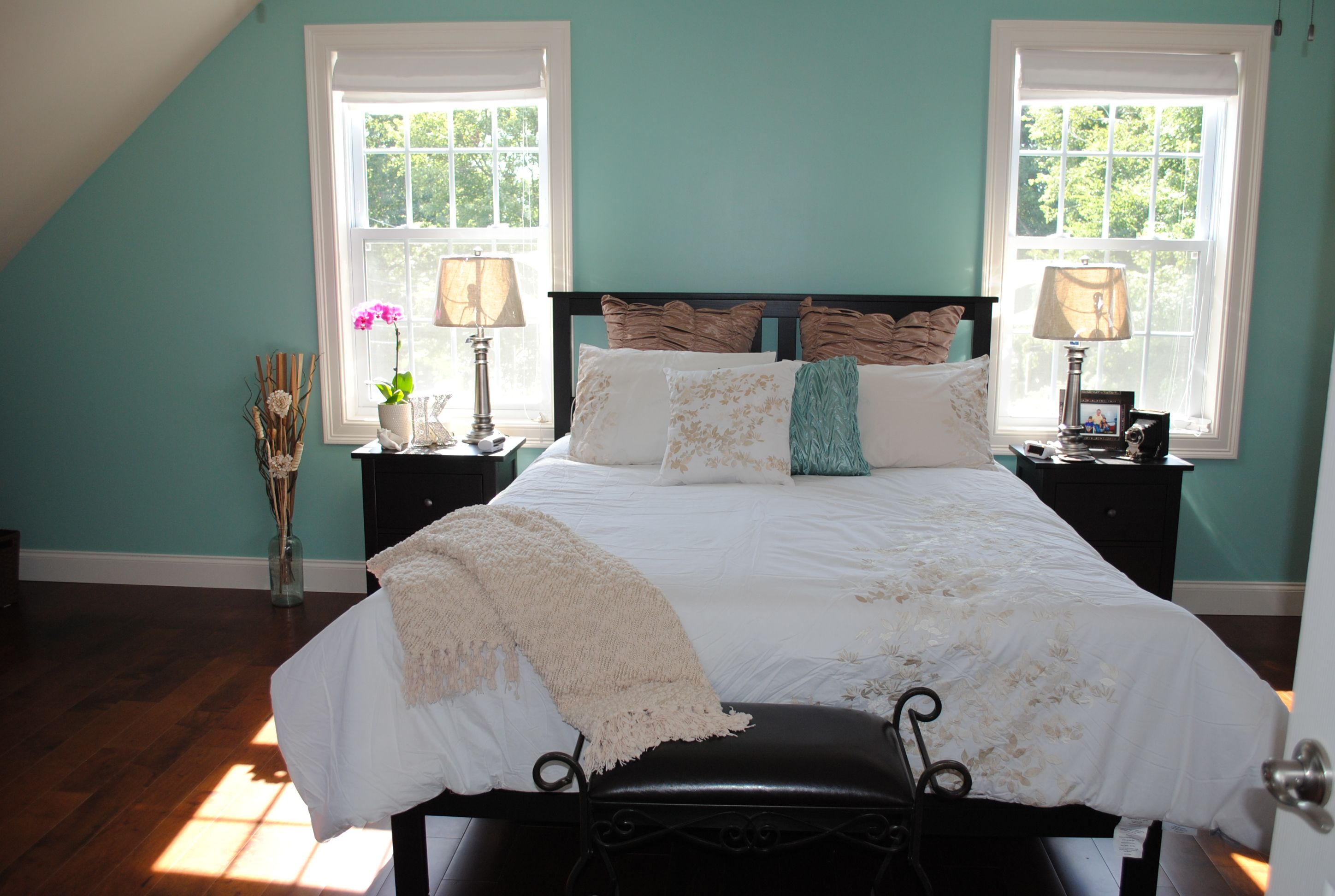 Our New Beachy Master Bedroom Jamaican Aqua