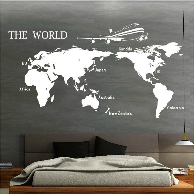 Map of the world wall stickers wall sticker wall pinterest explore vinyl wall decals wall stickers and more gumiabroncs Choice Image