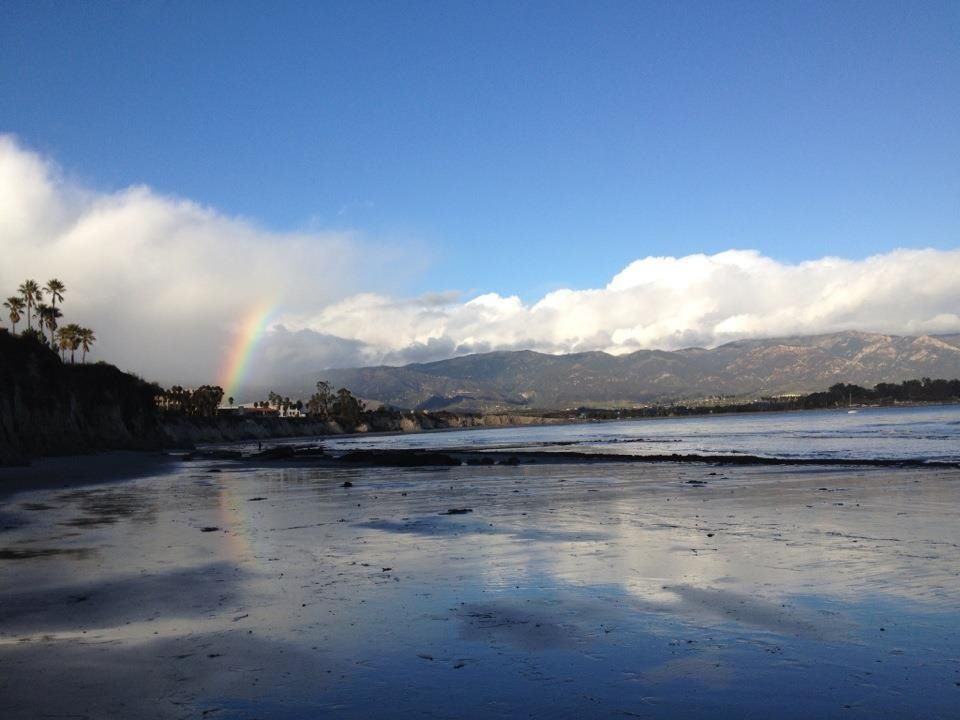 Butterfly Beach in Santa Barbara: This is one of the few