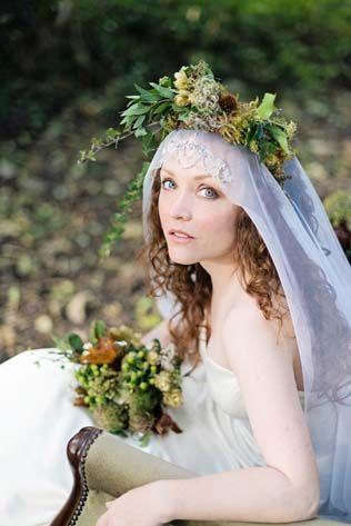 Цветочное вдохновение: сочетаем фату и венок невесты - The-wedding.ru