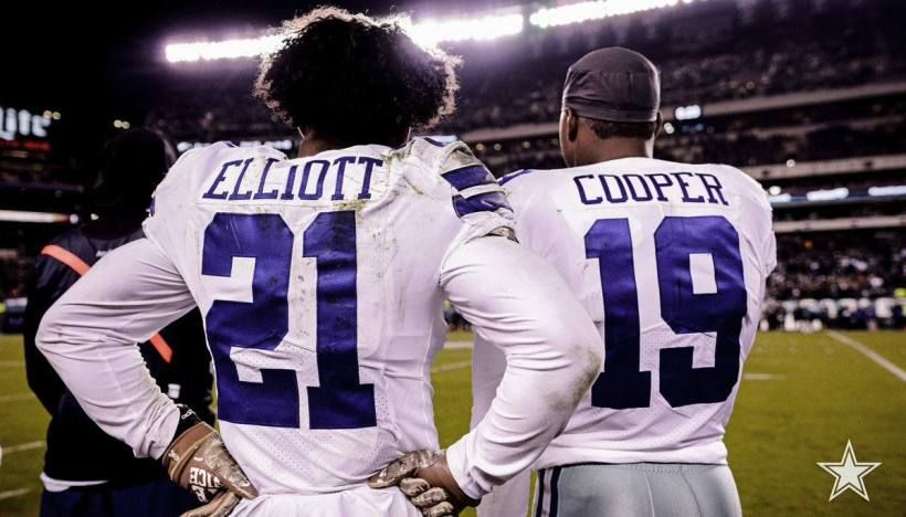sports shoes a6c96 d428f Ezekiel Elliott, Amari Cooper | Amari Cooper | Dallas ...