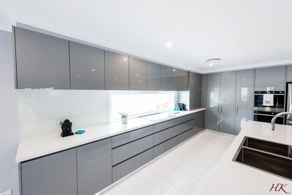 Grey White Modern Kitchen Harrington Kitchens Design
