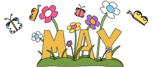 May Holidays | Clip art, Months in a year, May flowers