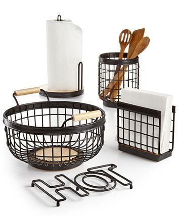Martha Stewart Collection Wire Kitchen Accessories, Created for Macy's & Reviews - Kitchen Gadgets - Kitchen - Macy's