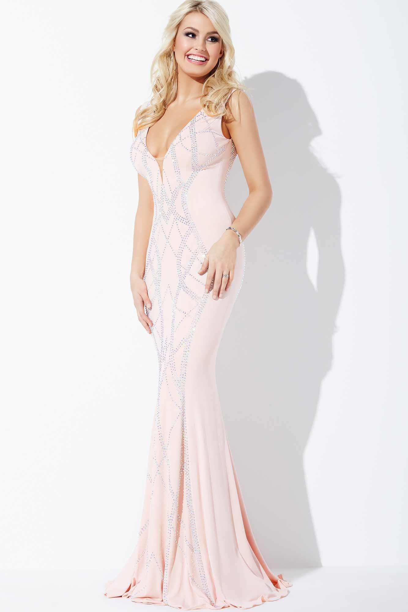 Blush Jersey Prom Dress 24980 | Anahita Persian Princess.(Water ...