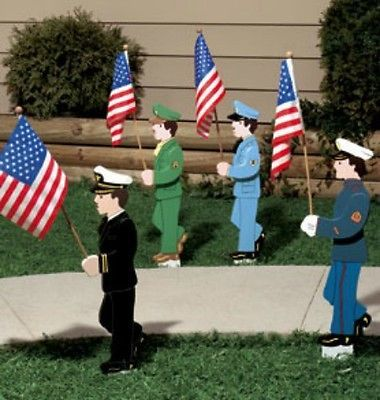 The games factory 2 lawn military and flags for Wooden garden ornaments and accessories