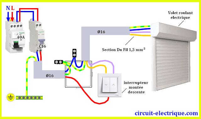 Branchement Volet Roulant Avec Interrupteur Domotique Volet Roulant Electricite Schema Installation Electrique Maison