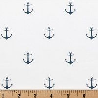Sale mIni anchor Navy Blue and White Table Runner by EllaBellaFabric on Etsy