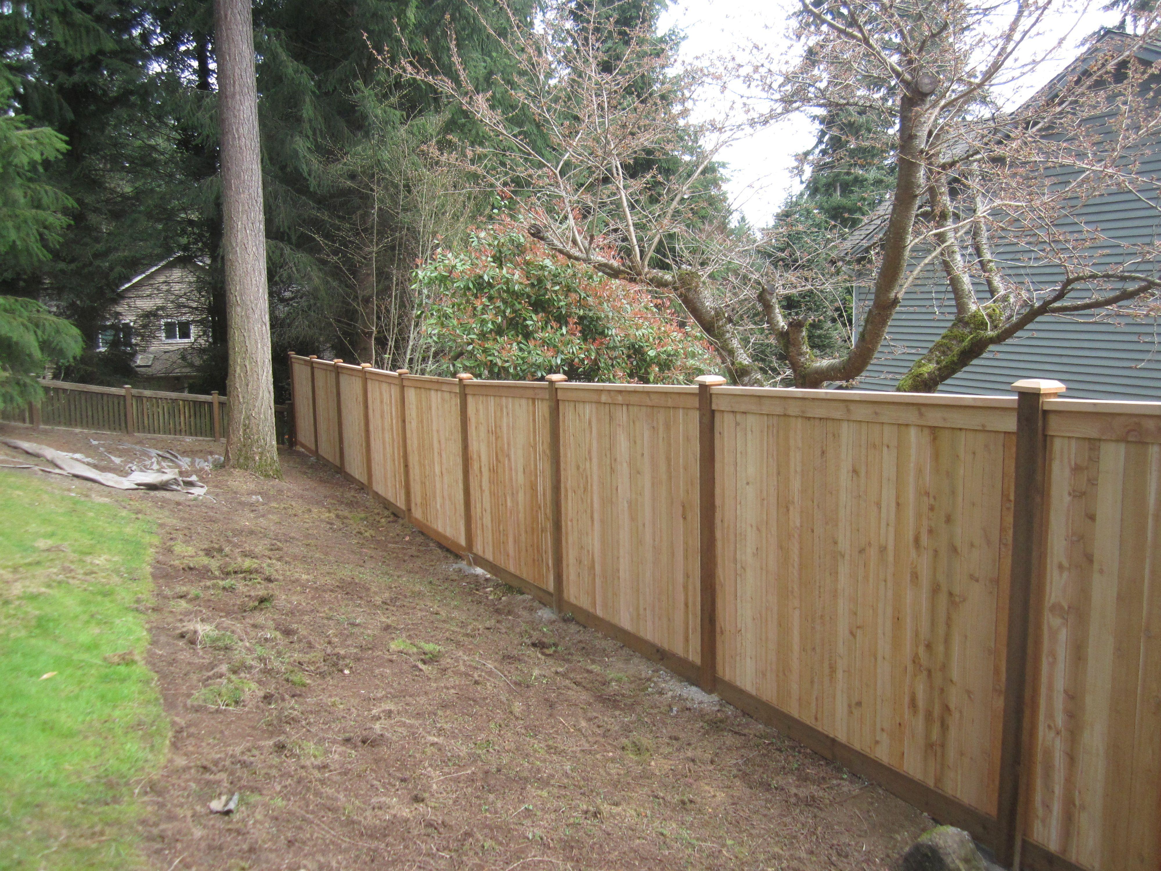 Full Panel Cedar Wooden Fence