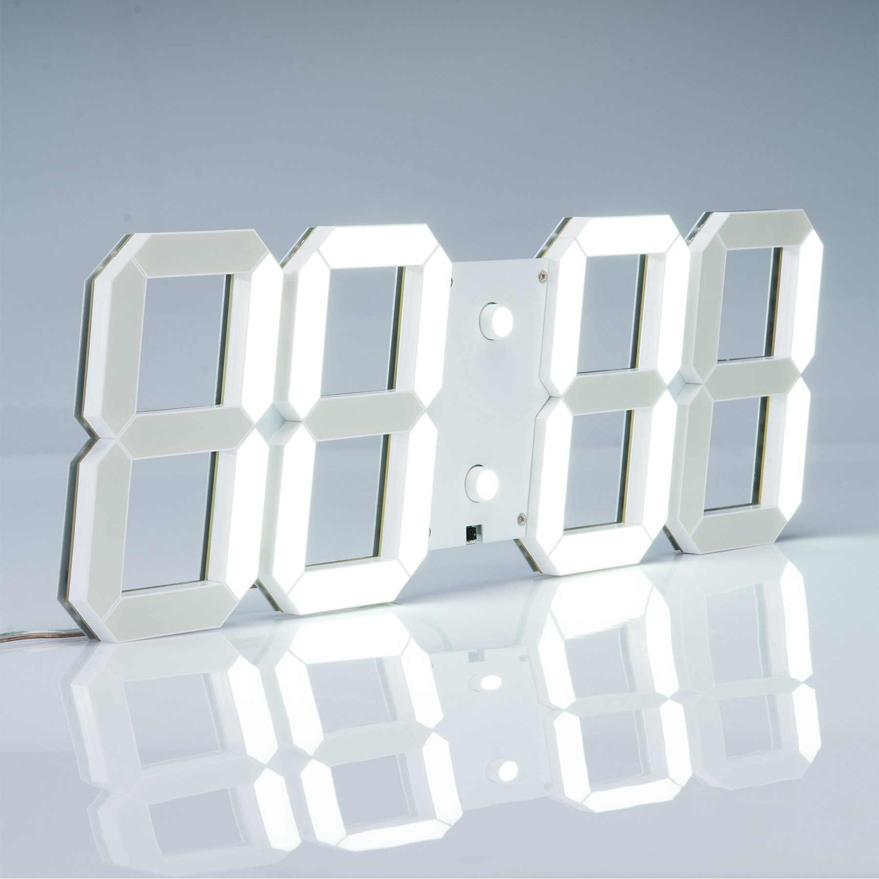 Pinty Upgraded Multi Purpose Large Led Digital Wall Clock With Alarm