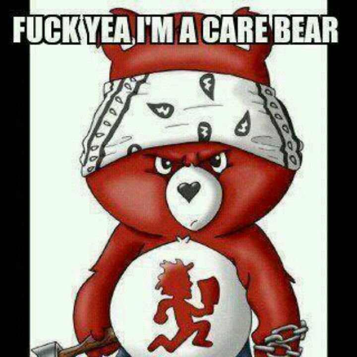 Might Be A Carebear But Its A Juggalo Carebear With Images