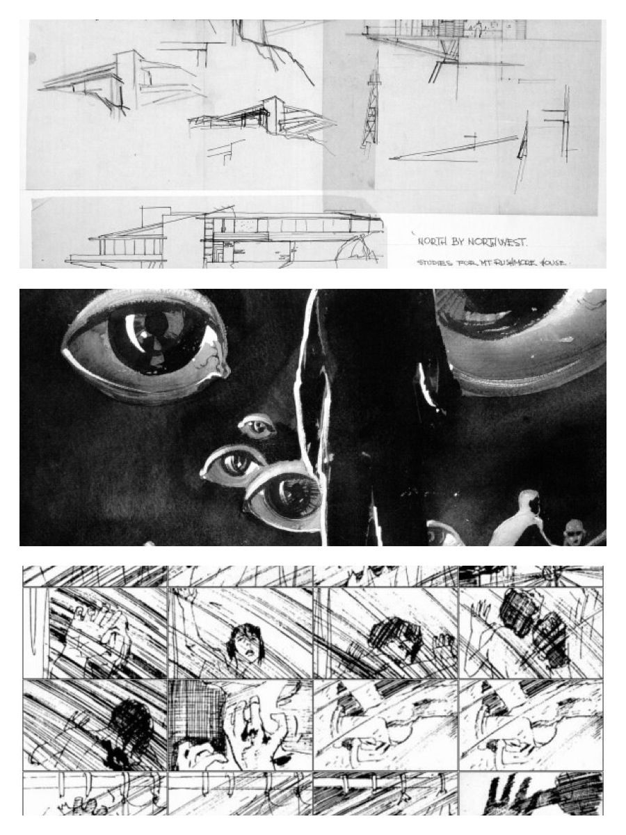 Alfred HitchcockS Film Storyboards Top To Bottom North By